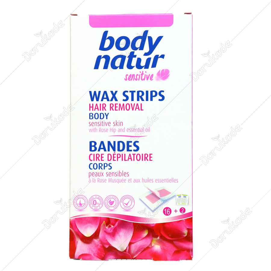 Body Natur Hair Removal Wax Strips